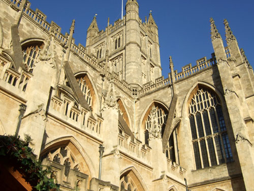 Bath Abbey in November