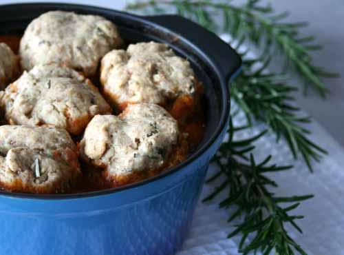 Chestnut Casserole with Herby Dumplings