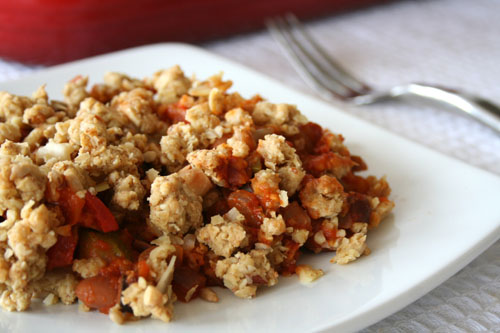 Mediterranean Vegetable Crumble