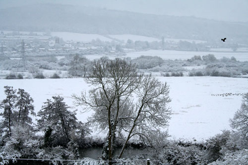 Snowy Bathampton Meadows 500