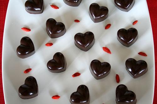 Chocolate Goji Almond Hearts 2 - 500