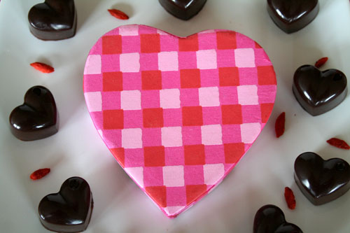 Chocolate Hearts with Heart Box - 500