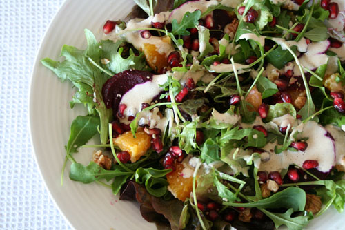 Pomegranate, Orange, Walnut, Hemp Seed Salad 1 - 500