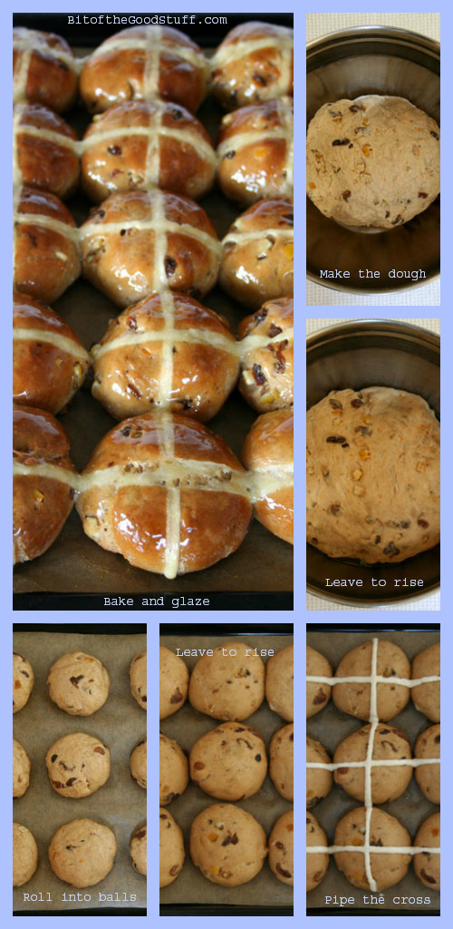 Hot Cross Buns Collage (Vegan / Dairy Free / Egg Free)
