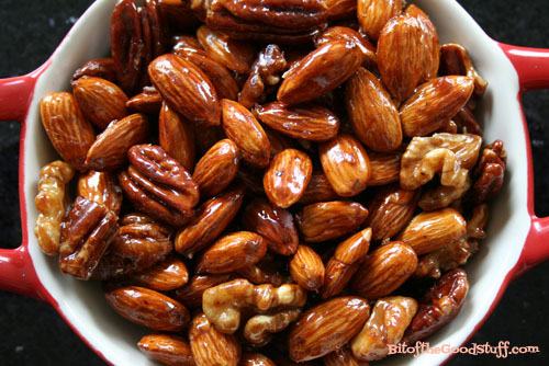 Mapled Glazed Almonds, Pecans & Walnuts