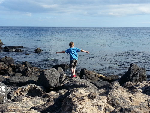 Playing on the Rocks in Lanzarote - 500