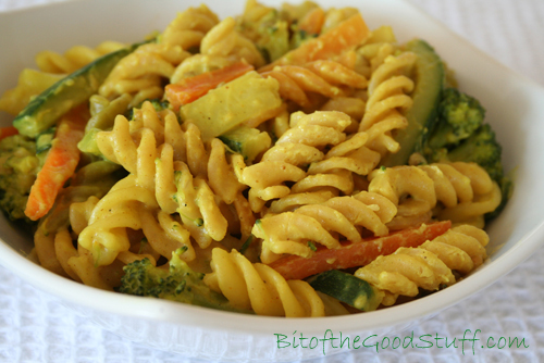 Fusilli Pasta with Lightly Curried Vegetables