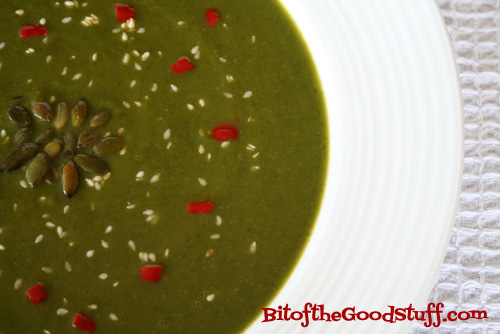 Nettle Soup with Ginger & Miso