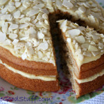 Orange & Almond Sandwich Cake with Orange Cashew Cream Frosting