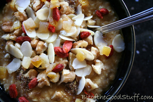Porridge with Coconut Pumpkin Caramel Sauce copy