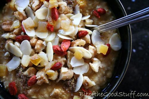 Porridge with Coconut Pumpkin Caramel Sauce copy