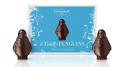 Hotel Chocolat Dark Tiddly Penguins