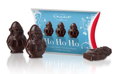 Hotel Chocolat Mini Dark Chocolate Santa