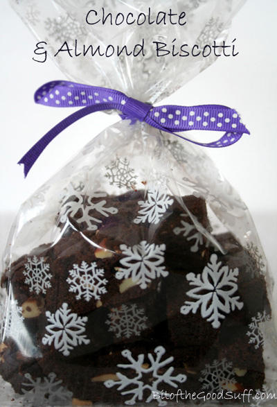 Chocolate and Almond Biscotti Holiday Gift | Bit of the Good Stuff