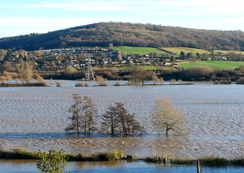 Bathampton Meadows Flooded Christmas 2013
