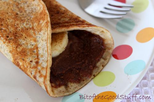Vegan & Gluten Free Banana Nutella Pancake
