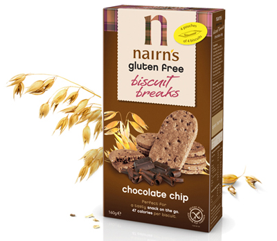 Nairns Gluten Free Chocolate Chip Biscuit Breaks 400