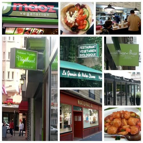 Veggie Restaurents in Paris Collage