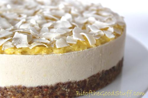 Pina Colada Dairy Free Cheese Cake #Vegan #Glutenfree