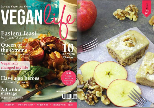 Vegan Life Apple & Walnut Cake Collage