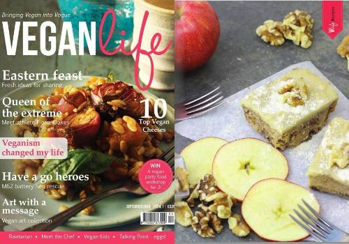 Vegan Life Apple & Walnut Cake Collage