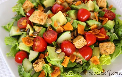 BLT Salad - Vegan Style