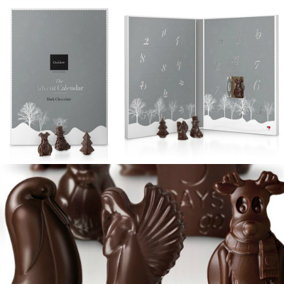 Hotel Chocolat Dark Chocolate Advent Calendar Collage