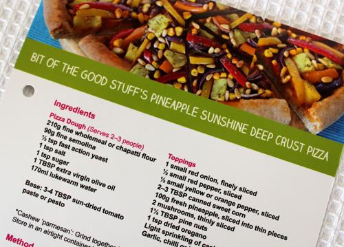 Sunshine Pizza Recipe Card