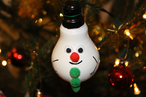 Snowman Lightbulb