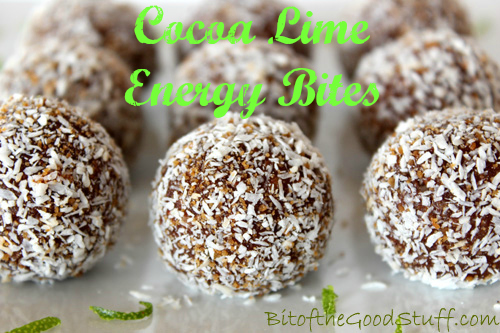 Cocoa Lime Energy Bites