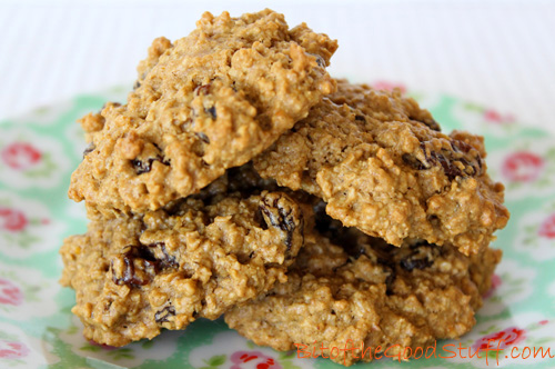 Orange Spiced Oatmeal Raisin Cookies