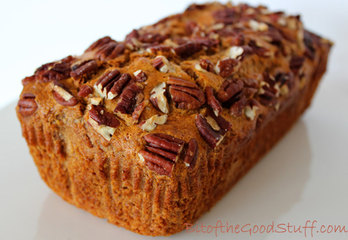 Pecan Topped Banana Bread