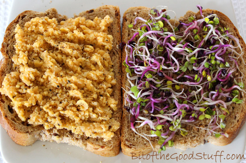 Chilli Chickpea Smash Sandwich