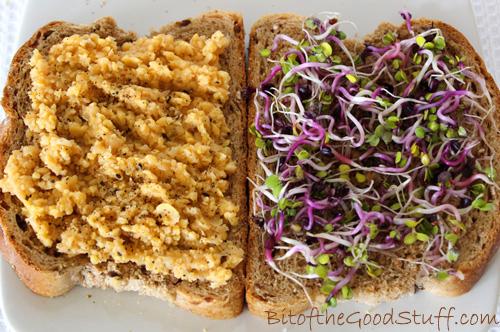 Chilli Chickpea Smash Sandwich