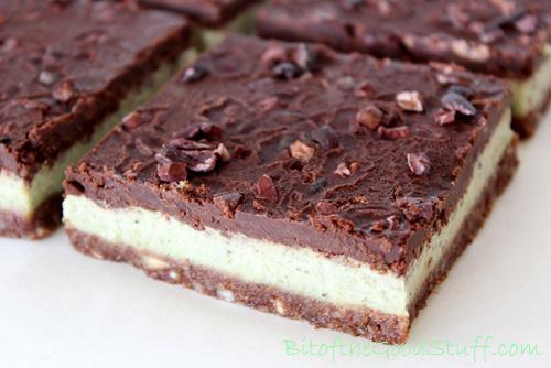 Raw Chocolate Peppermint Cream Bars