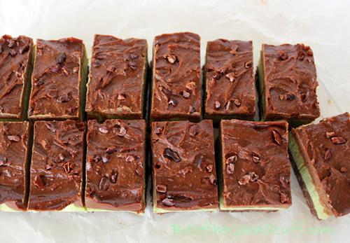 Chocolate Peppermint Cream Bars. Raw. Dairy-Free. Gluten-Free. Vegan ...