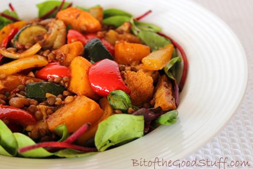 Roasted Vegetable and French Lentil Salad
