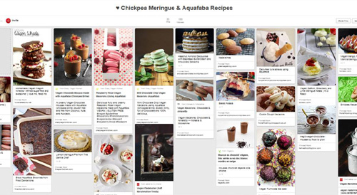 Chickpea Meringue Pinterest Board 500