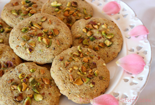 Salted Pistachio Rose Cookies