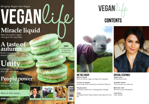 Vegan Life Issue 9 Cover collage