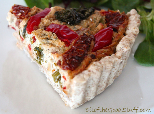 Roasted Tenderstem, Red Pepper and Sun-Dried Tomato Quiche Slice