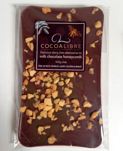 Cocoa Libre Honeycomb Chocolate Slab 400