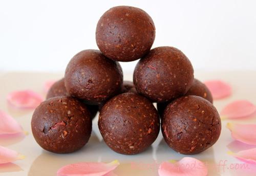 Chocolate Rose Energy Bites