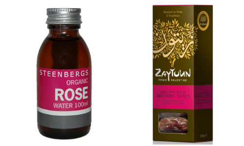 Rose Water and Date Collage