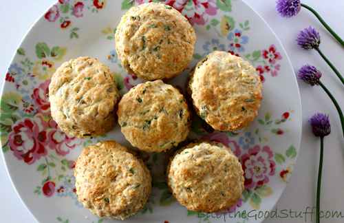 Vegan Cheese and Chive English Scones