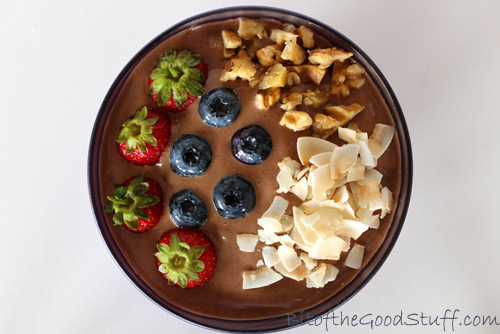 Chocolate Banana Ice Cream Breakfast Bowl