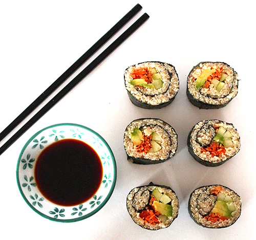 Royal Quinoa Vegan Sushi Rolls