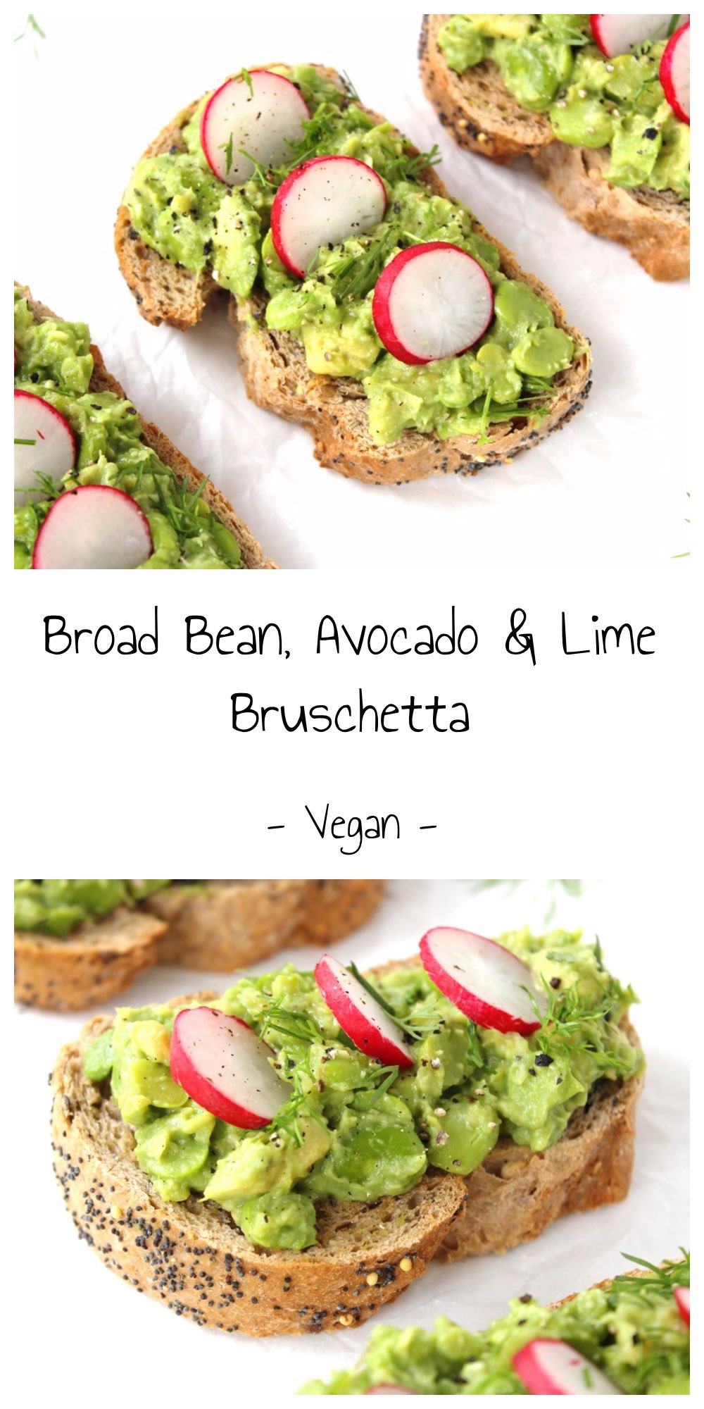 Broad Bean, Avocado and Lime Bruschetta