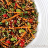 Quinoa Super Salad with Ginger Lime and Sweet Chilli Dressing