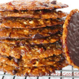 Cranberry, Orange and Dark Chocolate Florentines. Dairy-free. Vegan